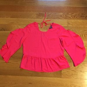 Express Pink Blouse Size XS. Never worn